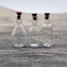 1 шт. Боулинг бутылка вина стеклянная бутылка желаний с флакон с пробкой кулон ручной работы ювелирных изделий Подвески бутылки