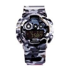 Nuevo 2017 LCD Digital Reloj de Los Hombres de Camuflaje Deportes Del relogio Reloj masculino del relogio digitales camuflado