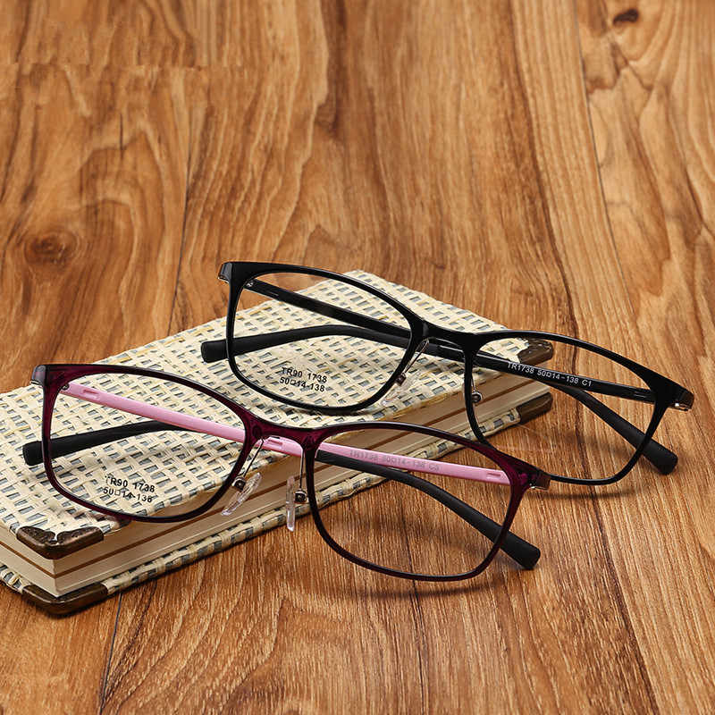 New TR90 Flexible Glasses Women Optical Glasses Myopia Fashion Glasses Frame Rx Eyeglasses Frame Spectacle