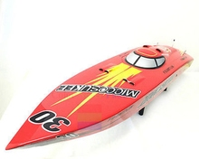 50″ G26IP1 Fiber Glass Gas RC Racing Speed Boat KIT Monohull Bare Hull Only Red