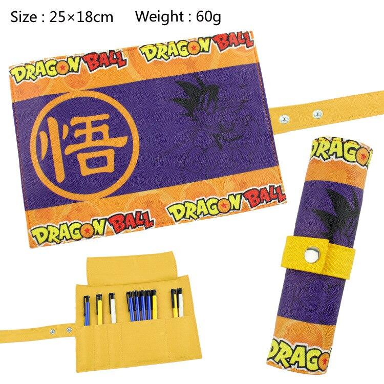 Dragon Ball Z Canvas Roll Up Pencil Bag Anime Pencil Case Kids Boy Gift Stationery School Supplies black bluter canvas roll up pencil bag anime pencil case kids boy gift stationery school supplies