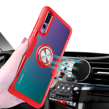 Tempered Glass Cases for Huawei Mate 20 Pro Case Magnetic Finger Ring Car Holder Cover P20 Lite Honor 8X Max Play