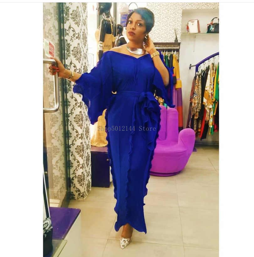 تمثال نصفي 132 سنتيمتر نمط جديد الكلاسيكية الأفريقي المرأة اللباس Dashiki الأزياء تكدرت انتفض فضفاضة الخامس الرقبة منتصف الأكمام اللباس حجم الحرة