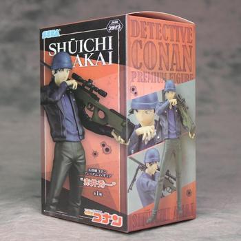 22cm Akai Shuuichi Detective Conan Case Closed Action figure toys doll with box