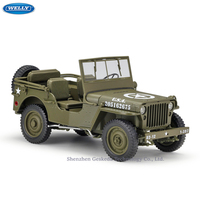 WELLY 1:18 Jeep Willis Simulation Alloy Off Road Vehicle machine Simulation Alloy Car Model Collection toy tools