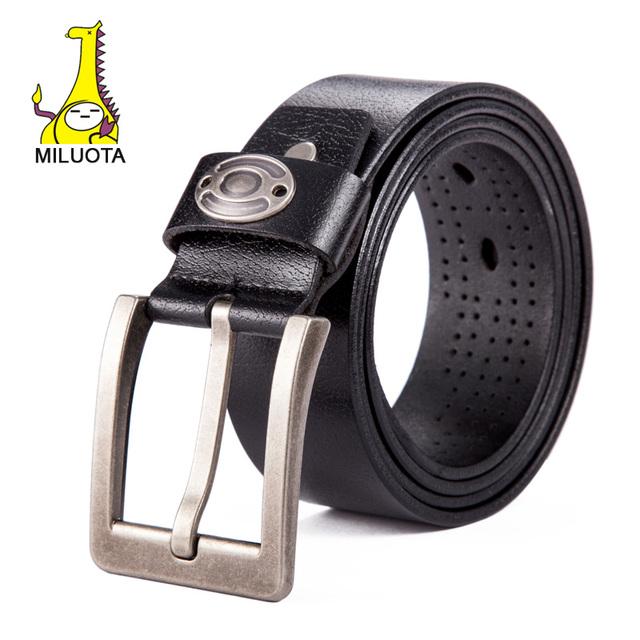 [Miluota] moda para hombre cinturones de lujo cinturones ceinture cinturones de diseñador hombres de alta calidad de cuero genuino para los hombres marca cinto LW062