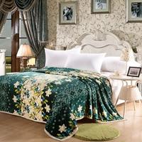 Noble Atmosphère Lily Amour Vert Foncé Lit Couverture Polaire Couvertures Pour Lit Throw Couverture King Size 200x230 cm Machine Lavable