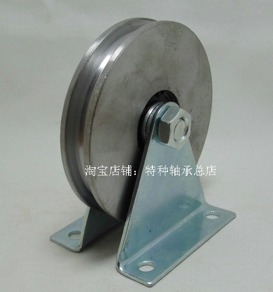 Wheel Diameter:80mm   Wire Rope U Groove Pulley chrome oxide plated steel wire guide pulley for wire industry
