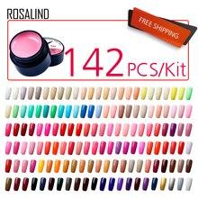 (142 pz/lotto) ROSALIND 5 ML Pittura Gel Per Unghie Gel Nail Polish Set Per Manicure FAI DA TE Hybird Disegno Di Unghie artistiche Primer, base trucco