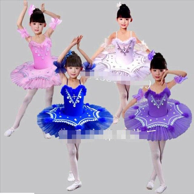 315a7d81e4f6 Purple Girls Swan Lake Ballet princess dance dress Costume Pink ...