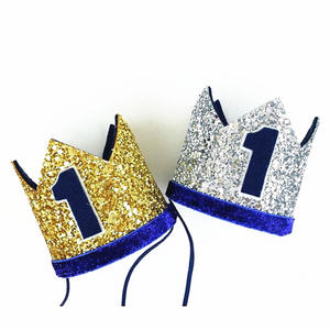 Euniqueen Crown Kids 1st Birthday Boy Party Hat