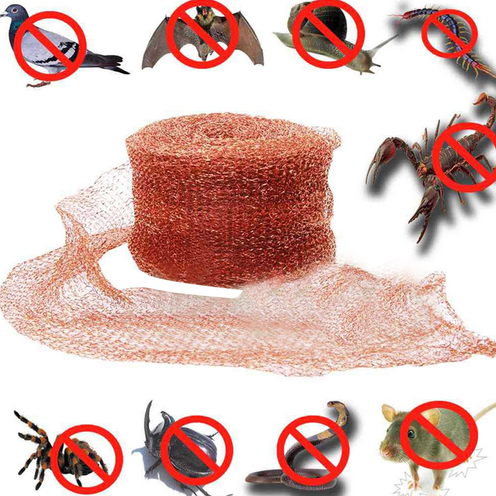 Behogar 10x600cm Multipurpose Fine Copper Mesh For Repelling Bird Bat Rodent Mouse Mice Rat Snail Snake Insect Pest Control