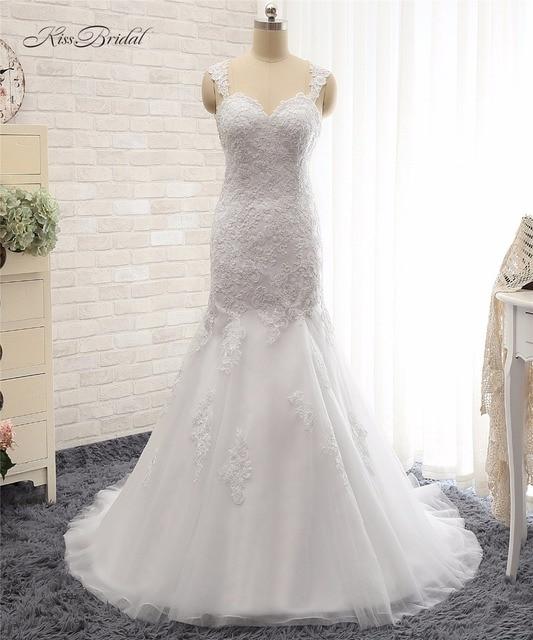 Custom Design Wedding Dresses Sleeveless Mermaid Style