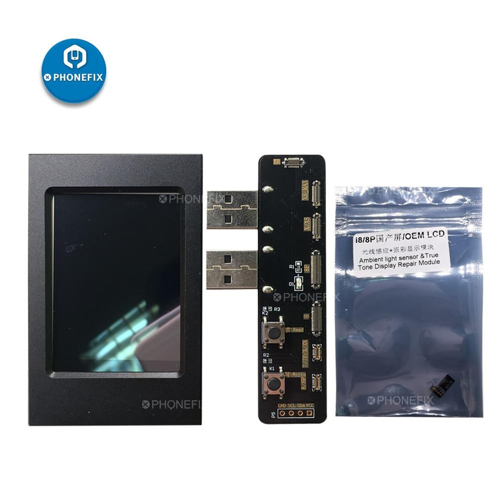 Sensor de Luz Ambiente PHONEFIX Caixa Programador Tela LCD Ferramenta de Programador De EEPROM IC de Leitura e Gravação para o iphone 8 8 Plus X XS MAX XR