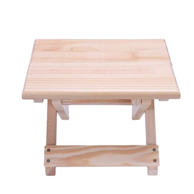 كرسي الشاطئ المحمولة بسيطة خشبية كرسي بلا ظهر قابل للطي أثاث خارجي كراسي الصيد الحديثة كرسي تخييم صغير البراز