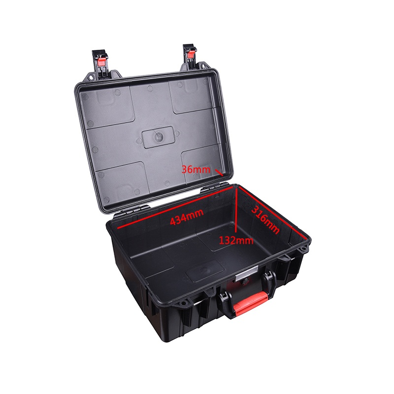 Tool case toolbox suitcase Impact resistant sealed waterproof safety ABS case 434*316*168mm Spare part kit camera case with foam
