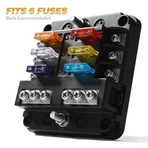 Image 3 - 6 way/12 Way Blade Fuse Block with ATC/ATO Fuse Box Holder LED Warning Indicator Damp Proof Cover for Car Boat Marine RV Truck
