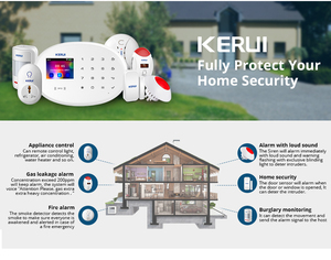 Image 2 - KERUI 433MHZ W20 touch screen Wireless Home Security Alarm System Alarm Kit Support Chinese English Russian West German Italian