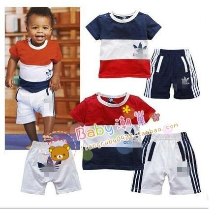 2013 Top Brand Girl or Boy Summer Clothing set ( cloth + pant),summer,short sleeve,80-100cm height