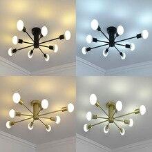 Lampe suspendue moderne à plusieurs tiges en fer forgé, design Vintage, luminaire décoratif de plafond, pendentif LED