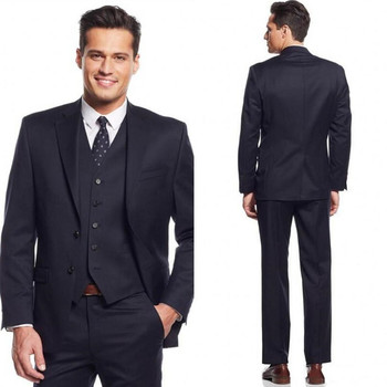 Black Navy Blue Two Buttons Wedding suit for mens 2017 New The Best Man Suits For Groomsman Suits Business men tuxedos  A106