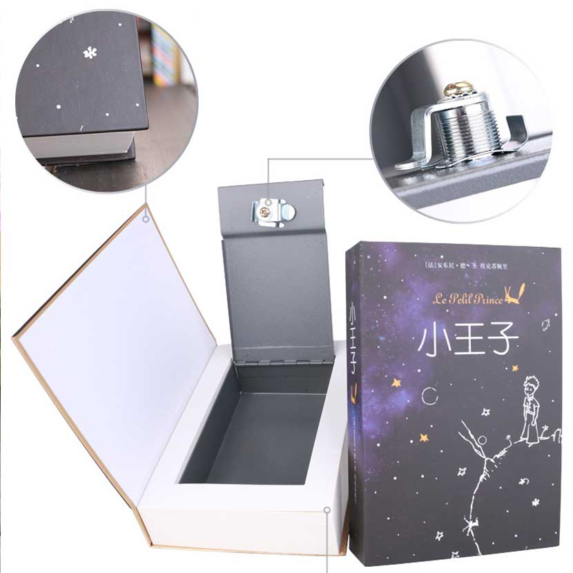 Metal Steel Storage Safe Box Dictionary Secret Book Piggy Bank Money Hidden Secret Security Locker Cash Jewellery With Key Lock