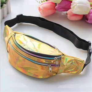 2019 Fashion Belt Bum Bag Punk Holographic Fanny Pack Laser Waist Pack for Women
