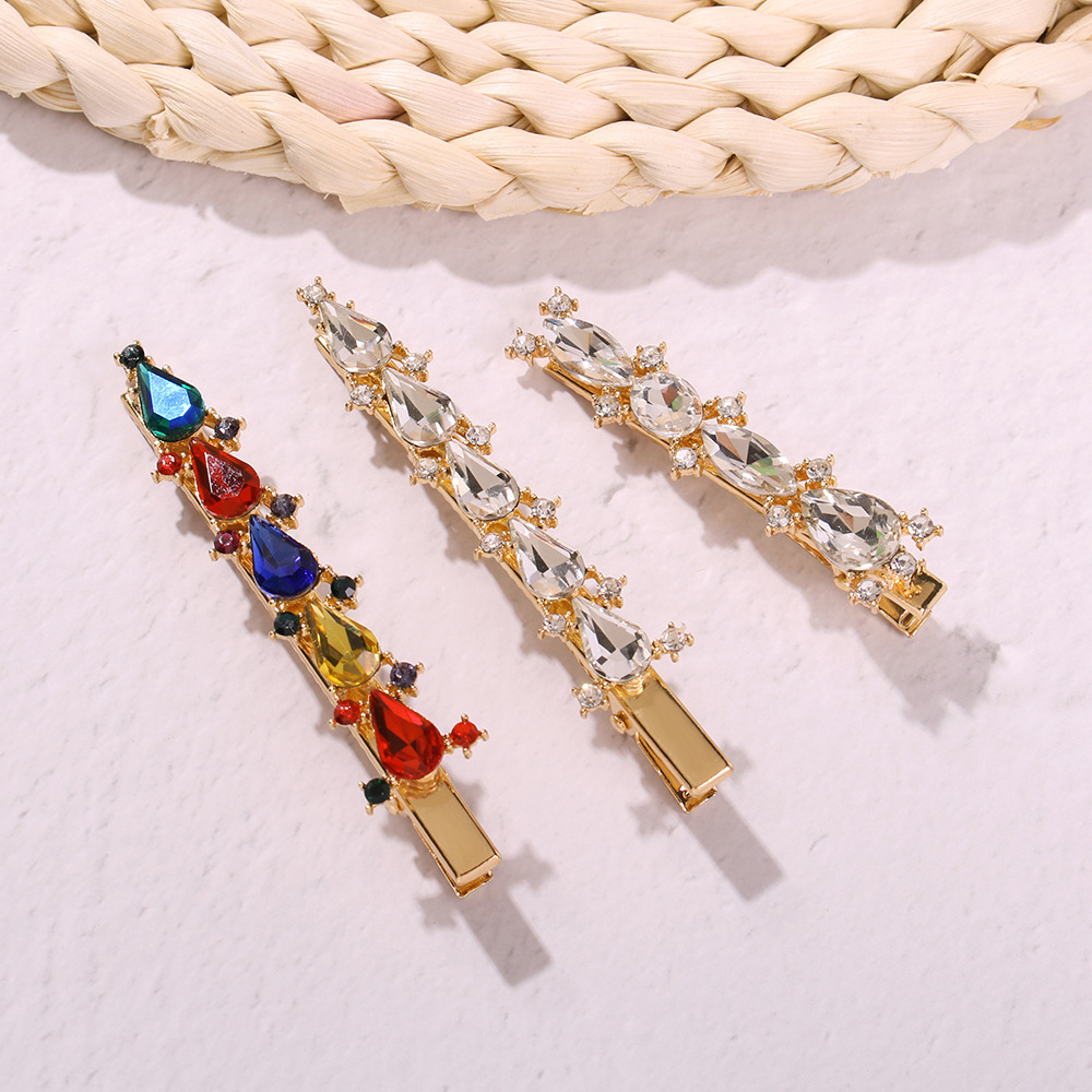 Hairpins Bright-Hair Barrettes Clips Bobby-Pins Trend-Accessories Crystal Rhinestone