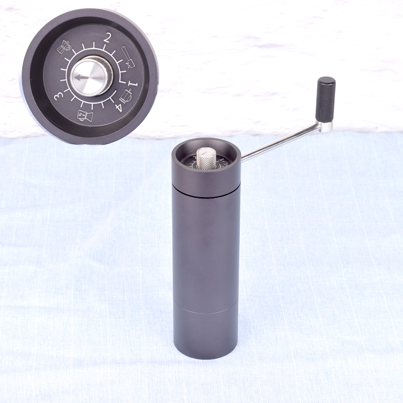 portable stainless steel core manual coffee grinder Handle grinder External adjusting knob Easy to change fineness