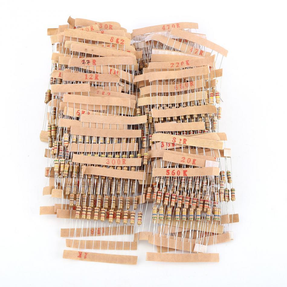 1000pcsLot Resistors 12W1-10M ohm Carbon Film Resistors Assortment Electronic Components Hot Sale