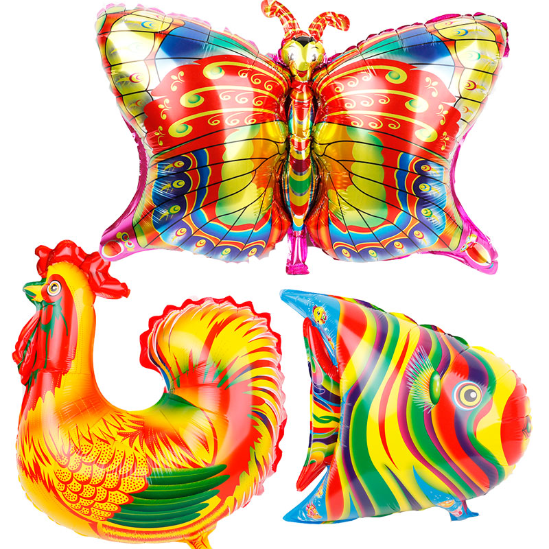Us 7 52 31 Off 10pcs Africa Animals Foil Balloons Farm Animal Party Supplies Butterfly Globos Teaching Tool Birthday Party Decorations Kids Toy In