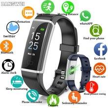LIGE 2019 New Sport Waterproof Bracelet Men Smart Watch Heart Rate Monitor Bblood Pressure Fitness Tracker Pedometer Band + Box