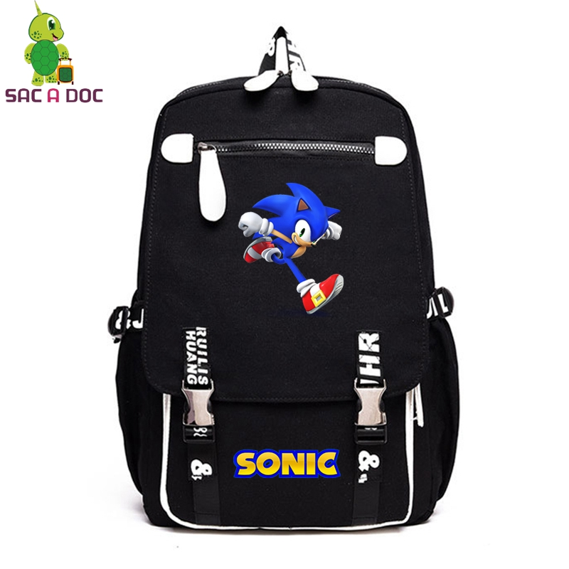 SAC A DOC Anti Theft Backpack Mochilas Masculina Mochila Mujer Travel Outdoor Canvas Bagpack Cartoon Sonic Teenagers BagpackSAC A DOC Anti Theft Backpack Mochilas Masculina Mochila Mujer Travel Outdoor Canvas Bagpack Cartoon Sonic Teenagers Bagpack