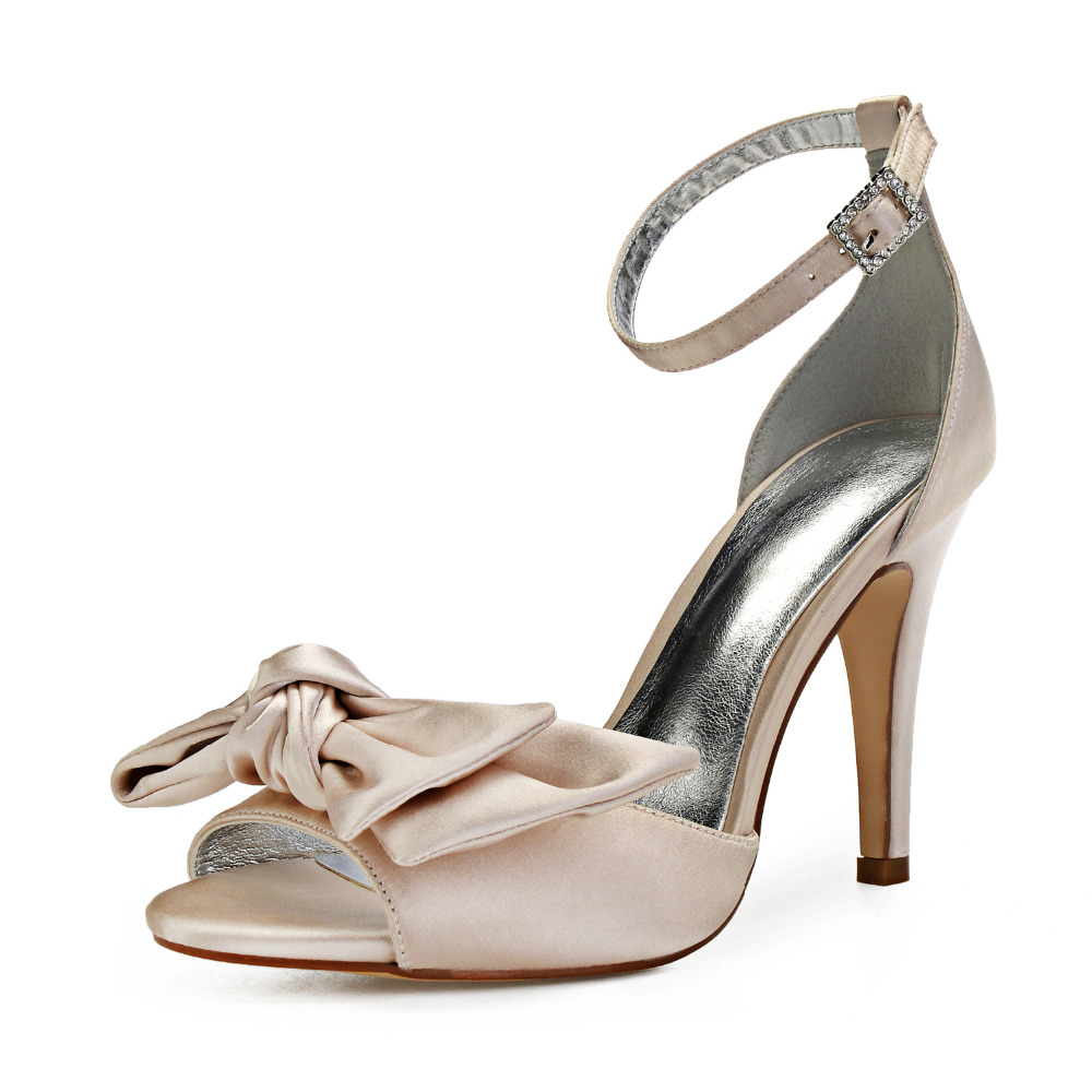 Sweet Dorsay satin evening dress heels stiletto bridal wedding party prom cocktail ball shoes pumps with big soft bow pumps Sweet Dorsay satin evening dress heels stiletto bridal wedding party prom cocktail ball shoes pumps with big soft bow pumps