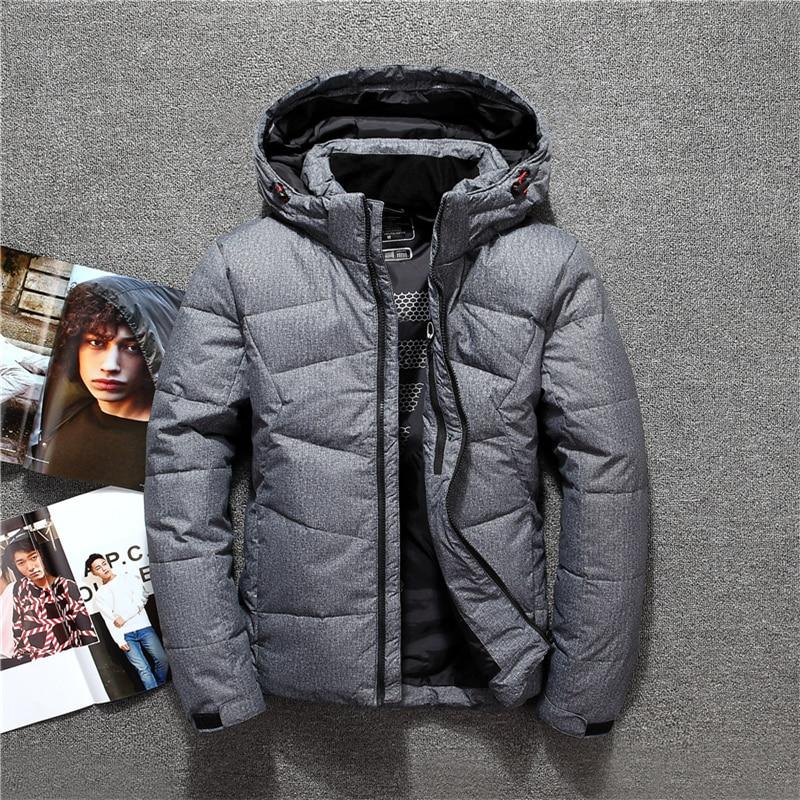 2018 Herren Mit Kapuze Ente Unten Jacken Mantel Herren Daunen Jacke Winter Parkas Paar Kleidung Warme Outwear Mantel Delikatessen Von Allen Geliebt