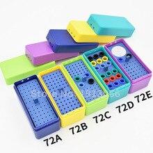 Caixa endodontia de plástico para esterilizar 72 furos, caixa autoclavável