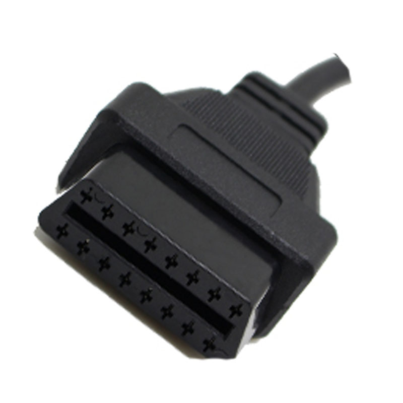 lowest price for Chrysler 6pin To 16 Pin OBD2 Cable Car Scanner Connector Auto Diagnose Adapter ELM327 and Scanner Extension Cable JC20