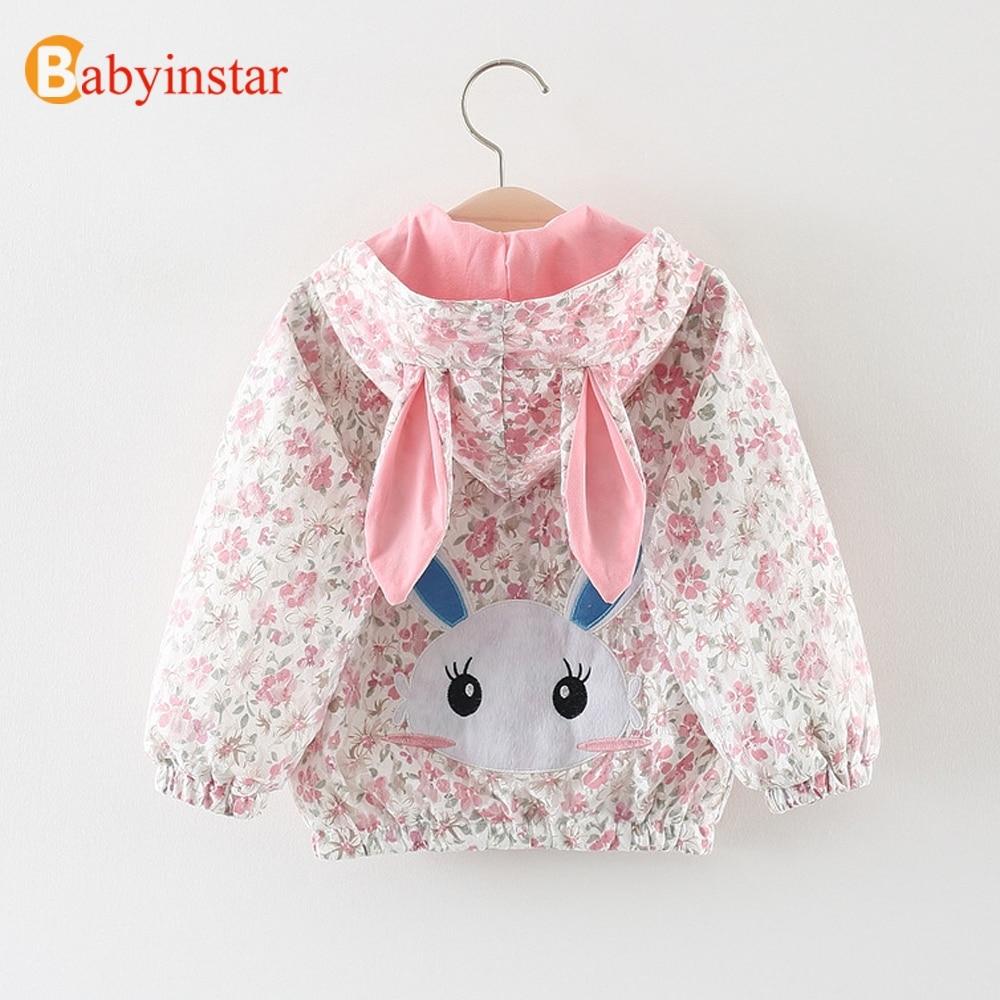 Kleinkind Mädchen der Jacke Sammlung 2018 Neue Nette Bunny Mit Kapuze Mäntel Mädchen Kleidung Tops Baby Oberbekleidung & Mantel Druck Outfits