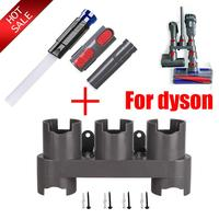 Suporte de armazenamento titular para dyson v7 v8 v10 absoluto aspirador peças escova suporte ferramenta bico base docks estação acessórios