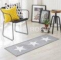 Alegria fino coreano estrela de cinco pontas-quarto sala carpet sofá cama cobertor borda não-deslizamento lavável na máquina luz cinza carpet