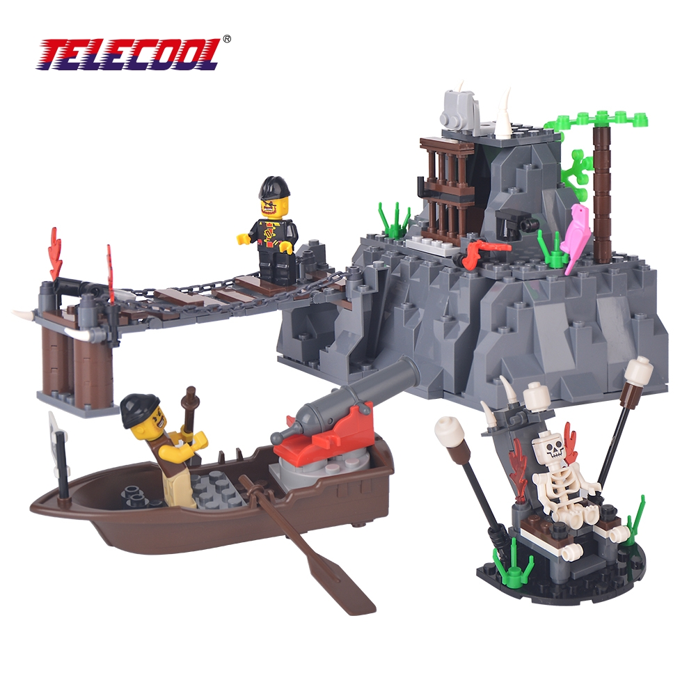 TELECOOL Taboo Island Pirate Model Building Blocks 248 Piece Skull Captain Pirate Figures Bricks Toy in the PVC BOX taboo повседневные брюки
