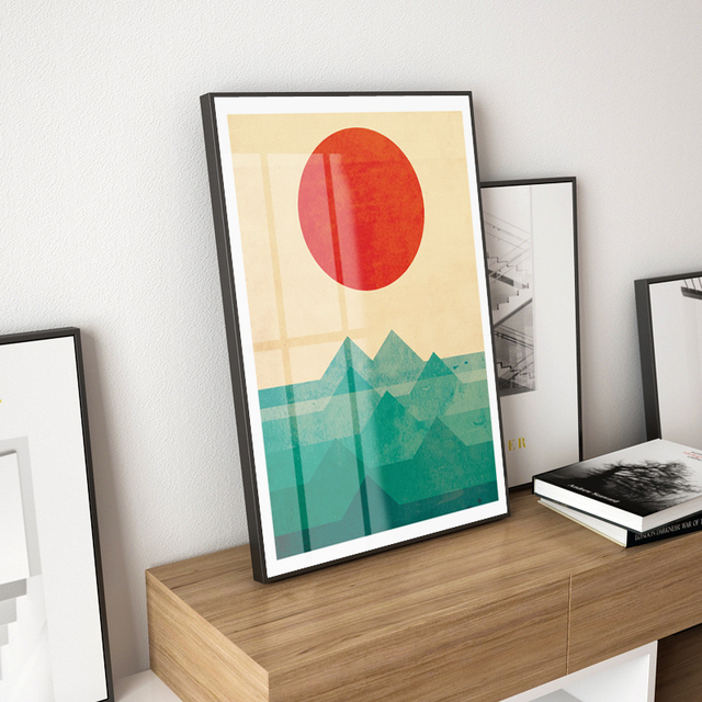 Japanese Canvas Prints And Posters Wall Art Sun Wall Pictures For
