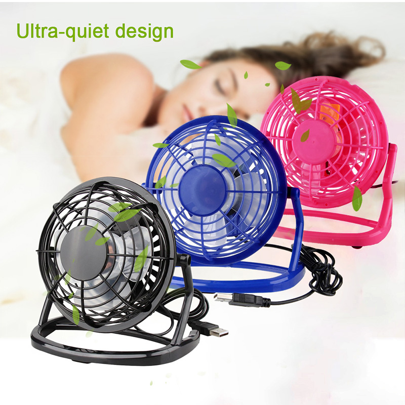 1PC 4 Inch Portable Mini USB Desk Fan Portable Fan USB 4 Blades Cooler Cooling Fan 360 Degree Up And Down For Home Office School(China)