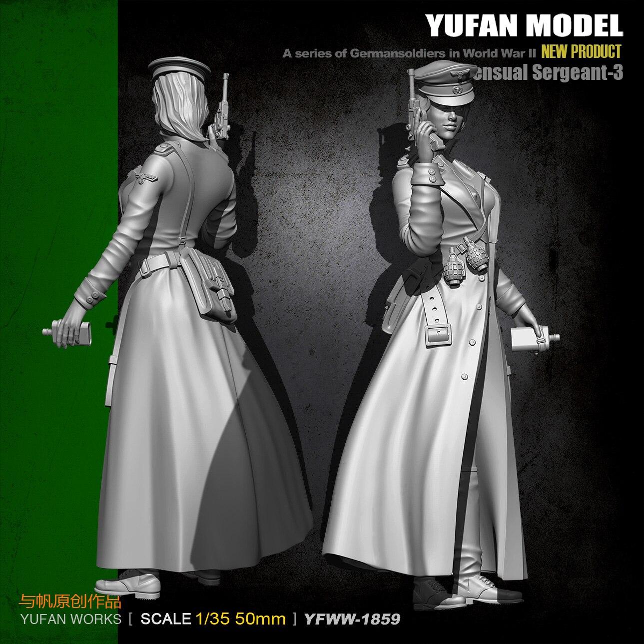 1/35 Kits de Resina Figura Yufan Modelo Soldado Resina Mulheres Oficiais Modelo Soldado Kit Yfww35-1859 Bulding