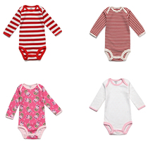 5pcs/lot Baby Bodysuits New Born Baby Girls Clothing Set Colorful Roupas Bebe 2017 Autunm Toddler Boys Jumpsuits Infant Costume