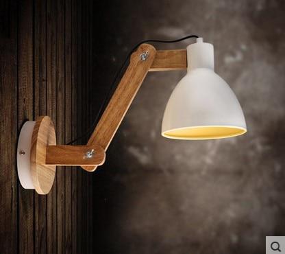 madera moderno llev la lmpara de pared lmpara de pared al lado de la lmpara de