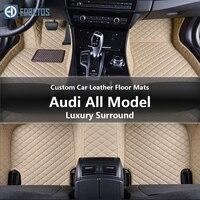 Custom Car Leather Floor Mats for 200 Quattro Audi All Models 100 200 80 90 100 Quattro Waterproof Wire Floor Mat 1990 1991