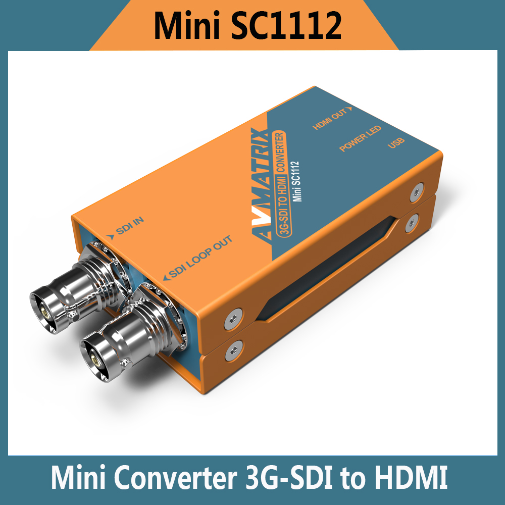 Hot Selling mini SC1112 Lilliput 3G 1080p HD SDI to HDMI mini Converter Avmatrix 1080i Broadcast