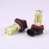 2pcs H8 H11 80W 3000K High Power LED Light Blubs Yellow Fog Driving Lights 1000LM Front