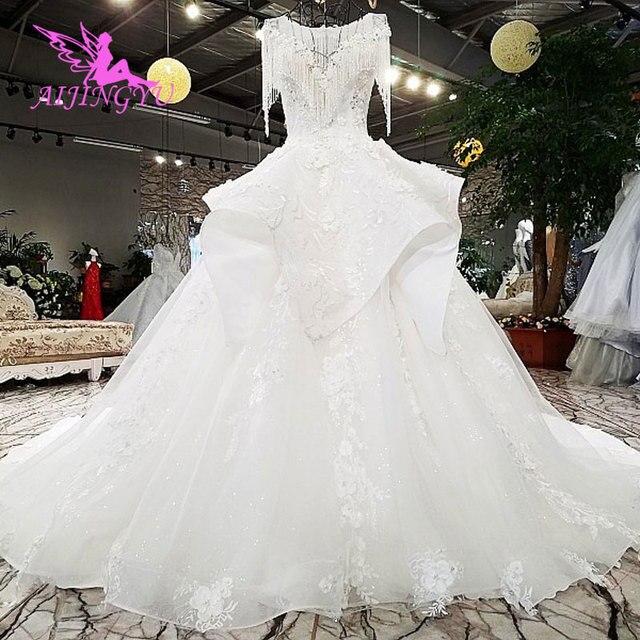 AIJINGYU متجر على الانترنت الزفاف فساتين الزفاف الفساتين الملابس جديد مع سعر القوطية الكرة مرحبا منخفضة ثوب فيتنام الزفاف اللباس